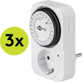 3 pcs.: Mechanical timer, 3 pc. in cardboard box, white - controls electronic devices easily and precisely