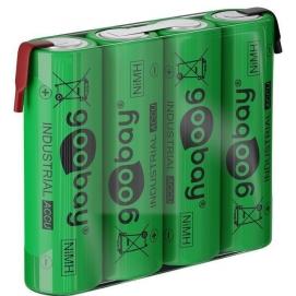 4x AA (Mignon) - 2100 mAh, green - Solder tail (Z), Nickel-metal hydride battery (NiMH), 4.8 V