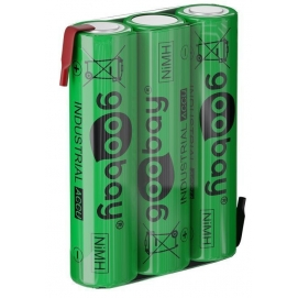 3x AAA (Micro) - 800 mAh, green - Solder tail (Z), Nickel-metal hydride battery (NiMH), 3.6 V