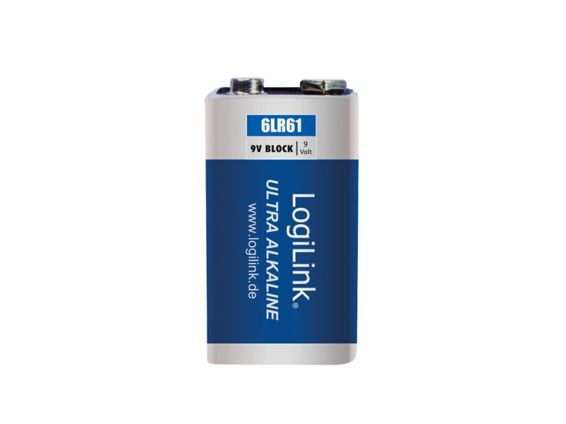 Bateria alkaliczna Ultra Power 6LR61, 9V, 1szt.