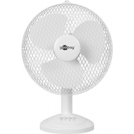 12-inch table fan, white - pleasantly refreshes you on hot days