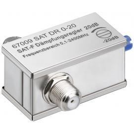 Adjustable attenuator 0 dB - 20 dB, 1 pc. in blister - F female F female