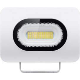 LED floodlight, Slim Design, 30 W, white, 0.3 m - modern lighting solution for building entrances, garages, carports and access
