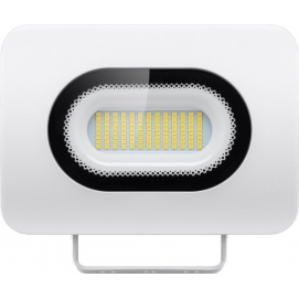 LED floodlight, Slim Design, 50 W, white, 0.3 m - modern lighting solution for building entrances, garages, carports and access