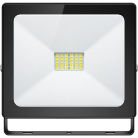 LED floodlight, Slim Classic, 20 W, black, 0.15 m - lighting solution for building entrances, garages, carports and access paths