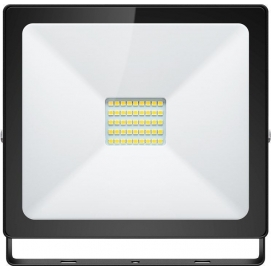 LED floodlight, Slim Classic, 30 W, black, 0.3 m - lighting solution for building entrances, garages, carports and access paths