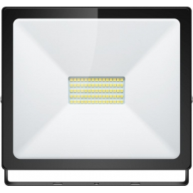 LED floodlight, Slim Classic, 50 W, black, 0.3 m - lighting solution for building entrances, garages, carports and access paths