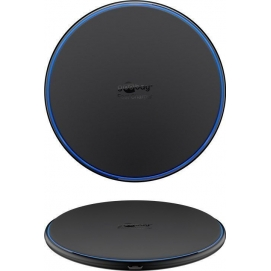 Fast Wireless Charger 10W (black), black, 1 m - flat, wireless fast-charging device for Qi compatible smartphones