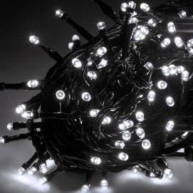 Lampki choinkowe LED zewnętrzne 10m, zimne białe, ze zmianą trybu świecenia