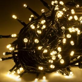 Lampki choinkowe Led zewnętrzne 10m, ciepłe białe, ze zmianą trybu świecenia