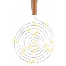 10 x Bottle string light with 20 LEDs, silver-light brown - atmospheric lighting decoration for glass bottles
