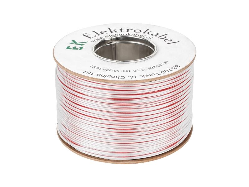 Kabel głośnikowy SMYp 2 x 0,35mm biały 200m