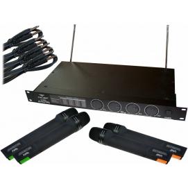 Zestaw mikrofonów LS-8888 Azusa (4 mikrofony do ręki)