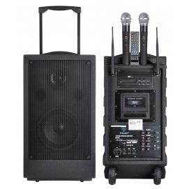 Przenośna aktywna kolumna z mikrofonami PA-80-UHF