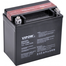 Akumulator do motocykli VIPOW 12V 12Ah YTX14-BS