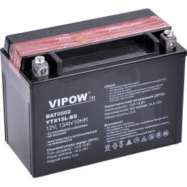 Akumulator do motocykli VIPOW 12V 13Ah YTX15L-BS