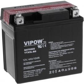 Akumulator do motocykli VIPOW 12V 4Ah YTX5L-BS