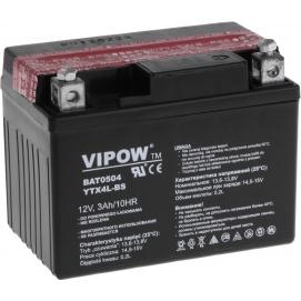 Akumulator do motocykli VIPOW 12V 3Ah YTX4L-BS