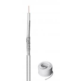 100 kabel koncentryczny antenowy dB, ekranowanie 2x, CU, 50 m