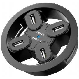 4-portowy koncentrator USB 2.0 Hi-Speed In Desk / rozdzielacz