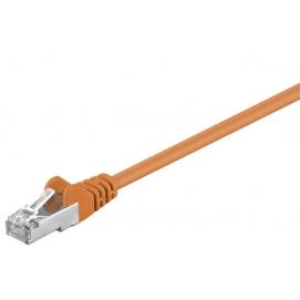 Kabel Patchcord CAT 5e SF/UTP RJ45/RJ45 0,5m pomarańczowy