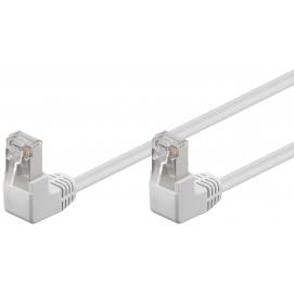 Kabel Patchcord CAT 5e U/UTP (2x90°) RJ45/RJ45 0,25m biały