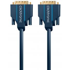 Kabel DVI-D / DVI-D 7,5m Clicktronic