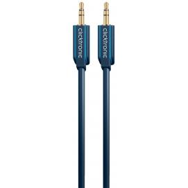 Kabel (aux) 3,5mm wtyk / 3,5mm wtyk 1,5m Clicktronic