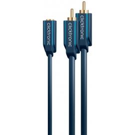 Adapter 3,5mm gniazdo / 2x RCA wtyk 0,1m Clicktronic