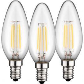 3x świeczka LED filament, 4 W