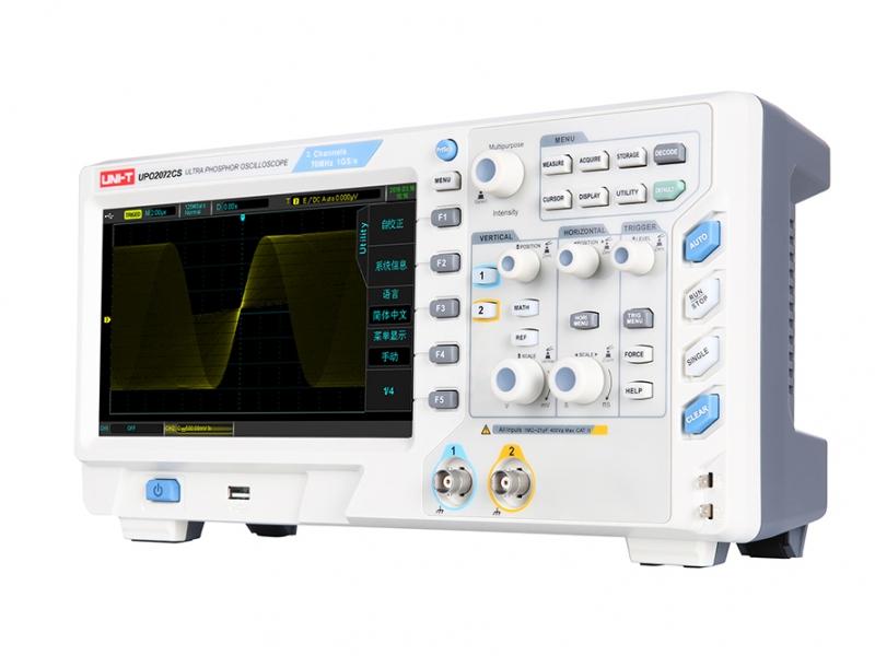 Oscyloskop Uni-T UPO2072CS z wyświetlaczem wykonanym w technologii Ultra PHOSPHOR