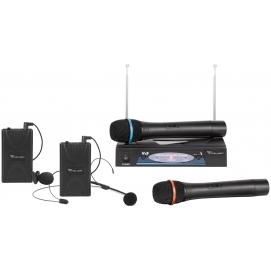 Mikrofon dwukanałowy VHF zestaw premium (2 x mikrofon do ręki + 2x klip)