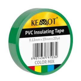 Taśma izolacyjna KEMOT 0,13x19x20Y klejąca zielony