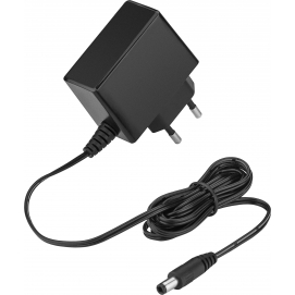 12 V Power Supply, black, 1.8 m - with 5.5 mm x 2.1 mm plug - 12 W and 1 A