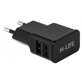 Ładowarka sieciowa M-LIFE 2xUSB 2000 mA