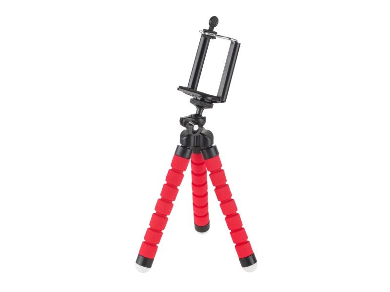 Uchwyt tripod, statyw elastyczny M-LIFE do telefonu / kamery sportowej czerwony