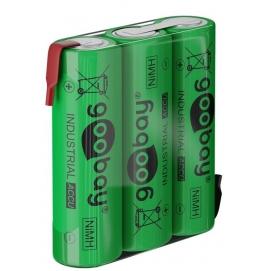 3x AA (Mignon) - 2100 mAh, green - Solder tail (Z), Nickel-metal hydride battery (NiMH), 3.6 V