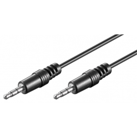 3.5 mm connector cable HQ, 5 m, black - 3.5 mm male (3-pin, stereo) 3.5 mm male (3-pin, stereo)