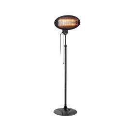 Grzejnik elektryczny (promiennik ciepła) tarasowy na stojaku.