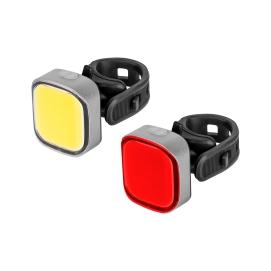Komplet świateł do roweru ( z przewodem USB)