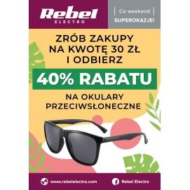 Plakat Rebel Electro - Promocja na okulary