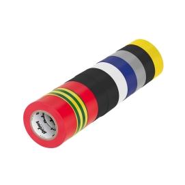 Komplet taśm izolacyjnych klejących REBEL (10 szt. - 0,13 mm x 19 mm x 10 yd) mix kolorów